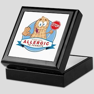 Allergic to Peanuts Keepsake Box