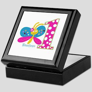 Butterfly First Birthday Keepsake Box