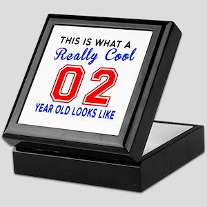 Really Cool 02 Birthday Designs Keepsake Box