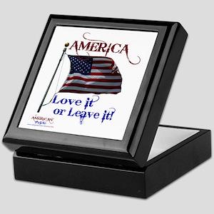 America Love It or Leave it Keepsake Box