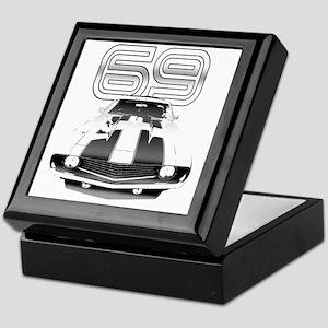 Camaro Black 1969 Keepsake Box