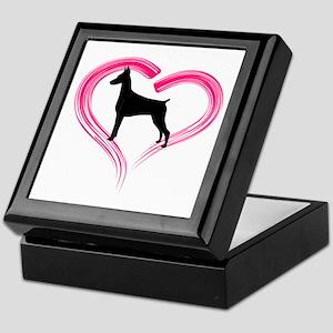 Heart My Doberman Keepsake Box