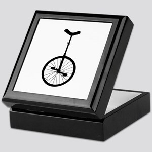 Black Unicycle Keepsake Box