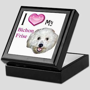 BichonFrise2 Keepsake Box