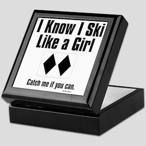 ski like a girl Keepsake Box