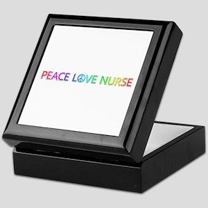 Peace Love Nurse Keepsake Box