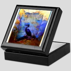 Beautiful great heron, wildlife art Keepsake Box