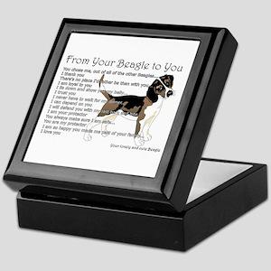 A Beagle's Letter To You Keepsake Box