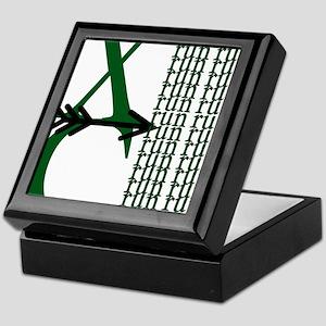 XC Run Green Black Keepsake Box