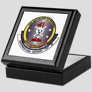 SSI - 3rd Battalion - 1st Marines USMC Keepsake Bo