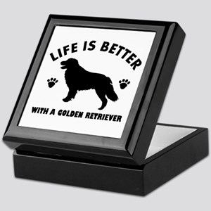Golden retriever breed Design Keepsake Box