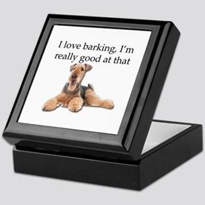 Airedale Terrier is Really good at ba Keepsake Box