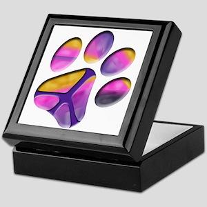 Peaceful Paw Print Keepsake Box