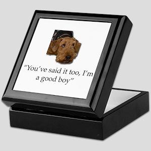 Sulking Airedale Terrier Giving Cute Keepsake Box