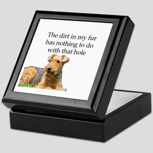Airedale Sees no connection between h Keepsake Box