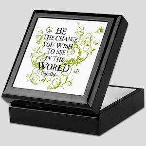 Be the Change - Green - Light Keepsake Box