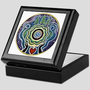 Earth Blessing Mandala Keepsake Box