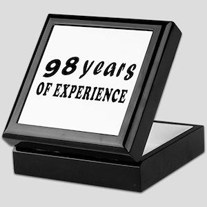 98 years birthday designs Keepsake Box
