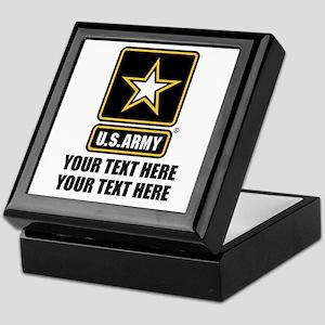 CUSTOM TEXT U.S. Army Keepsake Box