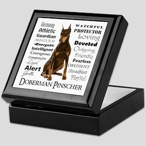 Doberman Traits Keepsake Box