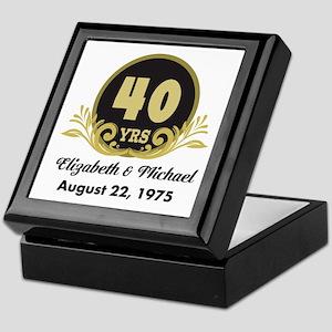 40th Anniversary Personalized Gift Idea Keepsake B