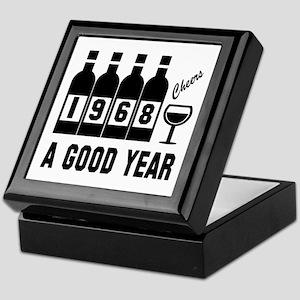 1968 A Good Year, Cheers Keepsake Box
