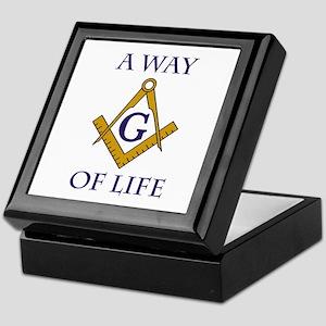 A Way of Life Tile Keepsake Box