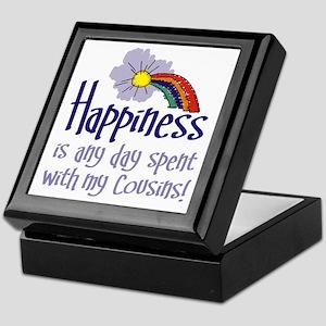 HAPPINESS IS DAY W/ MY COUSINS Keepsake Box