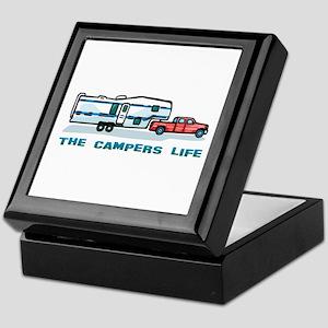The campers life Keepsake Box