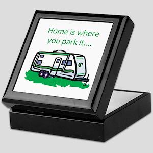 Home is where you park it Keepsake Box