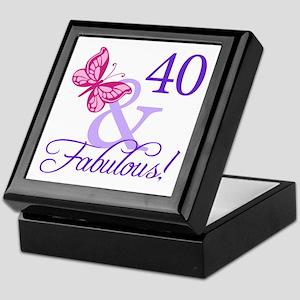 40 And Fabulous Keepsake Box