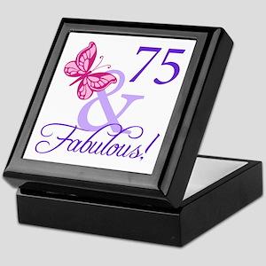 75 And Fabulous Keepsake Box