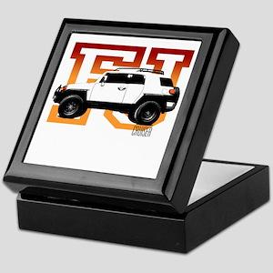 FJ Cruiser Red-Orange Keepsake Box