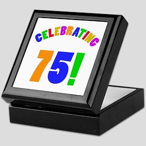 Rainbow 75th Birthday Party Keepsake Box