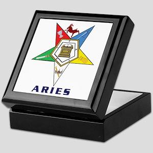 OES Aries Sign Keepsake Box