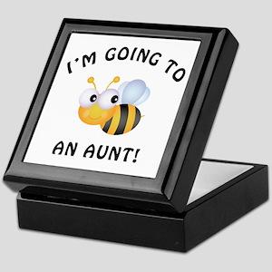 Going To Bee An Aunt Keepsake Box