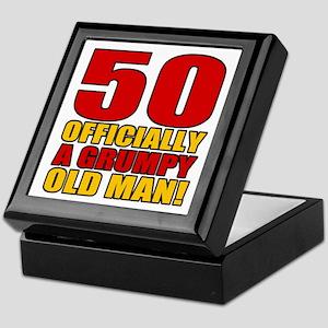Grumpy 50th Birthday Keepsake Box