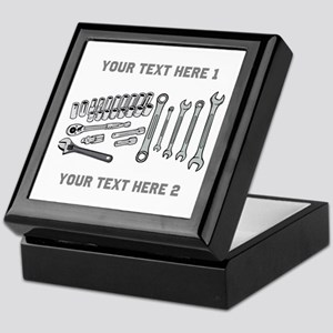 Wrenches with Text. Keepsake Box