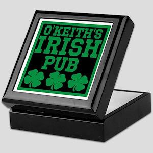 Personalized Irish Pub Keepsake Box