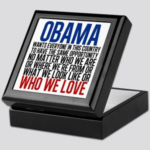 Obama Equality Keepsake Box