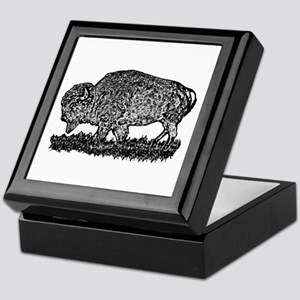 B@W Buffalo Keepsake Box