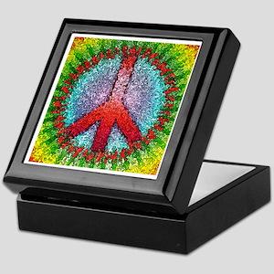 Abstract Peace Sign Keepsake Box