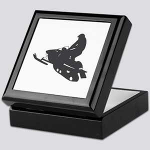 Snowmobile - Snowmobiling Keepsake Box