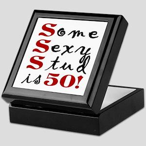 Some Sexy Stud Is 50 Keepsake Box