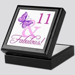 Fabulous 11th Birthday For Girls Keepsake Box
