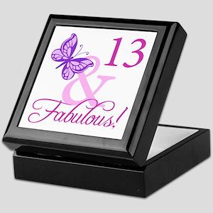 Fabulous 13th Birthday For Girls Keepsake Box