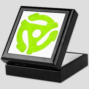 Lime Green Distressed 45 RPM Adapter Keepsake Box