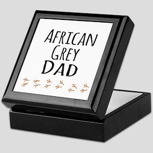 African Grey Dad Keepsake Box