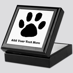 Paw Print Template Keepsake Box