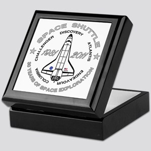 Space Shuttle_cafepress_2_dark Keepsake Box